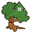 building tree logo